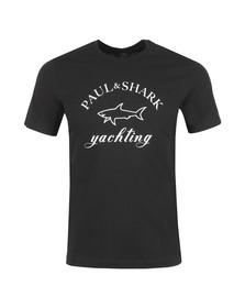 Paul & Shark Mens Black Large Logo T Shirt