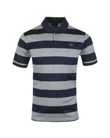 Paul & Shark Mens Grey Block Stripe Polo Shirt