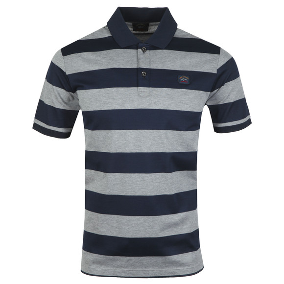 Paul & Shark Mens Grey Block Stripe Polo Shirt main image