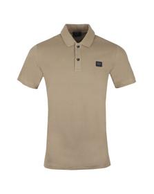 Paul & Shark Mens Brown Chest Badge Polo Shirt