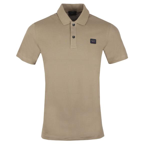 Paul & Shark Mens Brown Chest Badge Polo Shirt main image