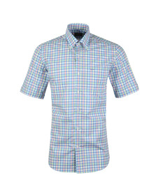 Paul & Shark Mens Multicoloured Multi Check Shirt Short Sleeve