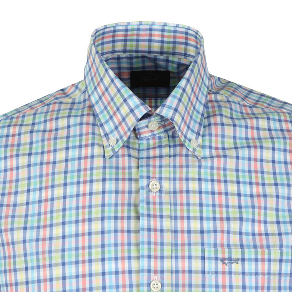 Paul & Shark Mens Multicoloured Multi Check Shirt Short Sleeve main image