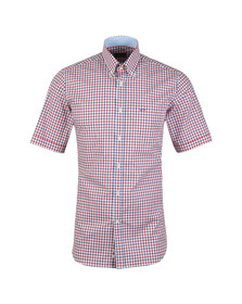 Paul & Shark Mens Red Check Short Sleeve Shirt