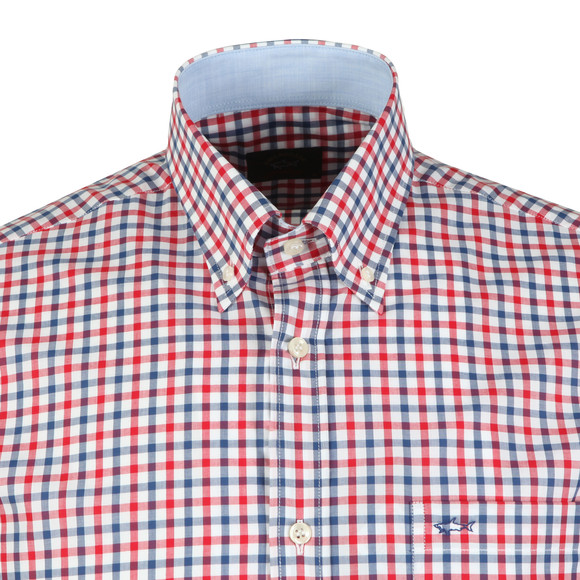 Paul & Shark Mens Red Check Short Sleeve Shirt main image