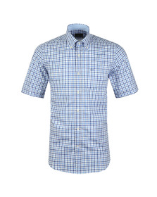 Paul & Shark Mens Blue Check Short Sleeve Shirt