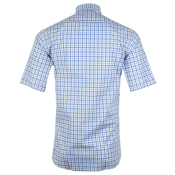 Paul & Shark Mens Blue Check Short Sleeve Shirt main image