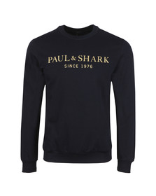 Paul & Shark Mens Blue Gold Logo Sweatshirt