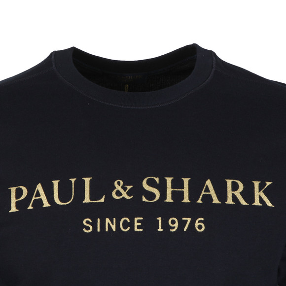 Paul & Shark Mens Blue Gold Logo Sweatshirt main image