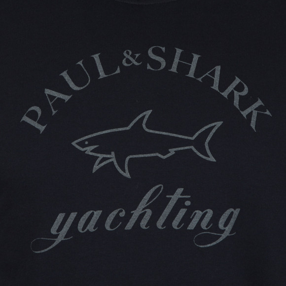 Paul & Shark Mens Blue Large Logo Overhead Hoody main image