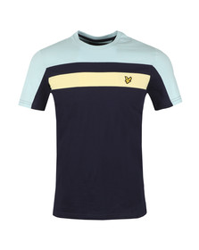 Lyle and Scott Mens Blue Colour Block Tee