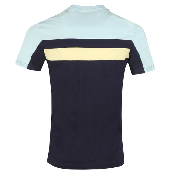 Lyle and Scott Mens Blue Colour Block Tee main image