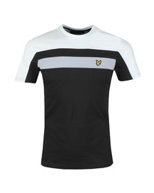 Lyle and Scott Mens Black Colour Block Tee