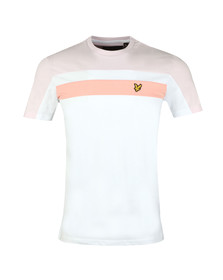Lyle and Scott Mens White Colour Block Tee