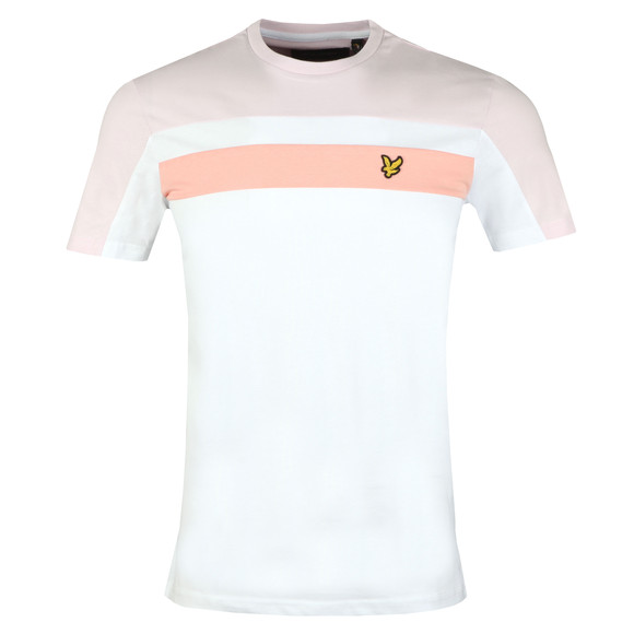 Lyle and Scott Mens White Colour Block Tee main image