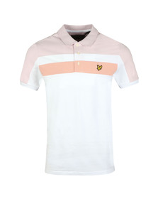 Lyle and Scott Mens White Colour Block Polo