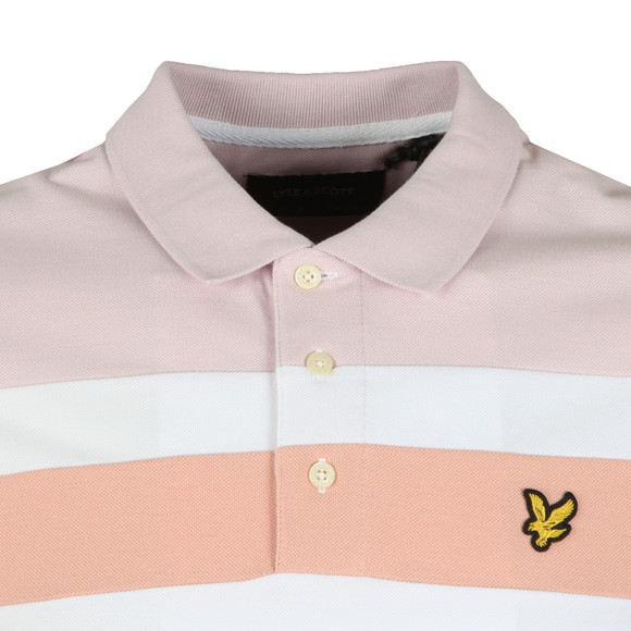 Lyle and Scott Mens White Colour Block Polo main image