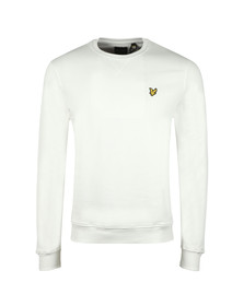 Lyle and Scott Mens White Crew Neck Sweat