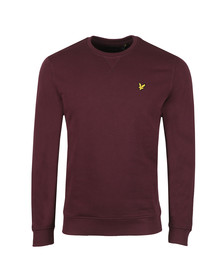 Lyle and Scott Mens Red Crew Neck Sweat