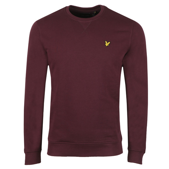 Lyle and Scott Mens Red Crew Neck Sweat main image