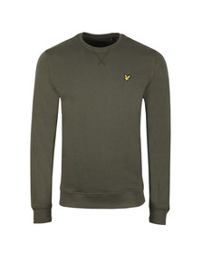 Lyle and Scott Mens Green Crew Neck Sweat