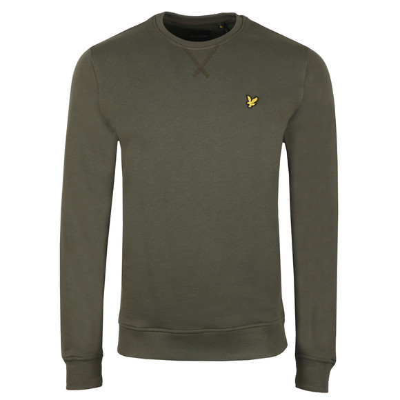 Lyle and Scott Mens Green Crew Neck Sweat main image
