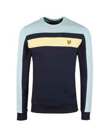 Lyle and Scott Mens Blue Colour Block Sweatshirt