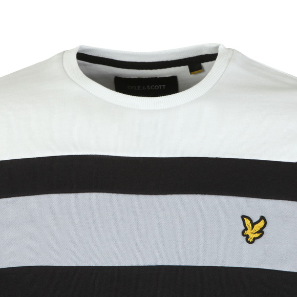 Lyle and Scott Mens Black Colour Block Sweatshirt main image
