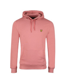 Lyle and Scott Mens Pink Pullover Hoodie