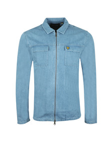 Lyle and Scott Mens Blue Summer Denim Overshirt