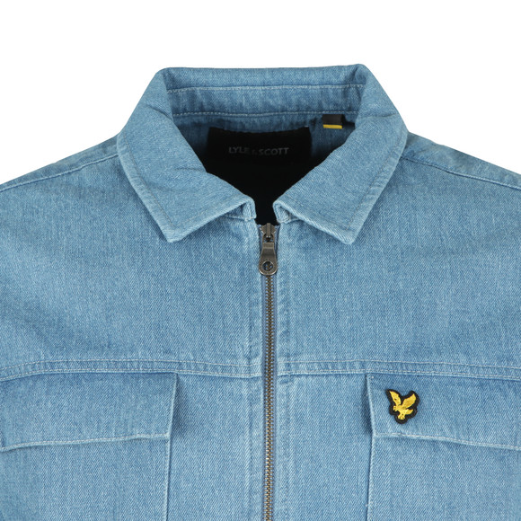 Lyle and Scott Mens Blue Summer Denim Overshirt main image