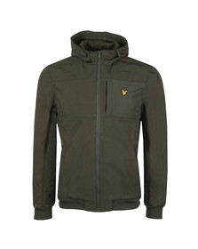 Lyle and Scott Mens Green Hooded Soft Shell Jacket