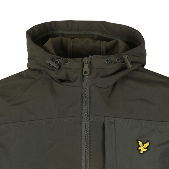Lyle and Scott Mens Green Hooded Soft Shell Jacket main image