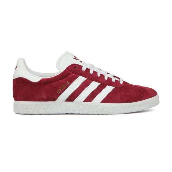 adidas Originals Mens Red Gazelle Trainer