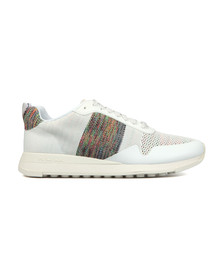 PS Paul Smith Mens White Rappid Knitted Trainer