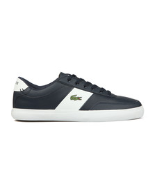 Lacoste Mens Blue Court Master Leather Trainer