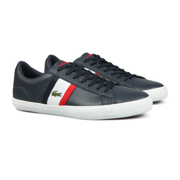 Lacoste Mens Multicoloured Lerond Leather Trainer main image
