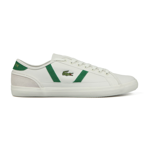 Lacoste Mens White Sideline Leather Trainer