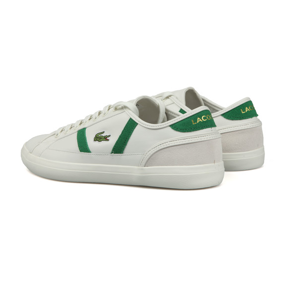 Lacoste Mens White Sideline Leather Trainer main image