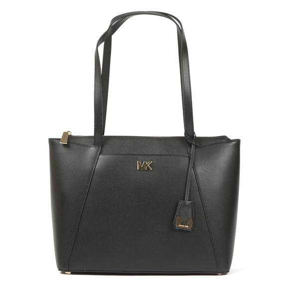 Michael Kors Womens Black Maddie Mid East West Tote Bag main image