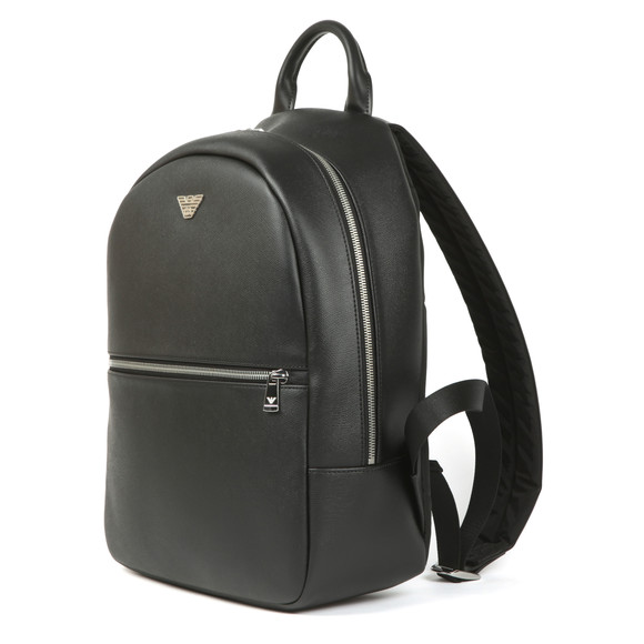 Emporio Armani Mens Black Backpack main image