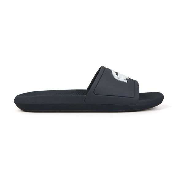 Lacoste Mens Blue Croco Slide