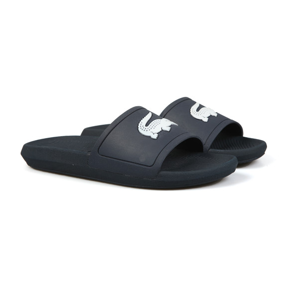 Lacoste Mens Blue Croco Slide