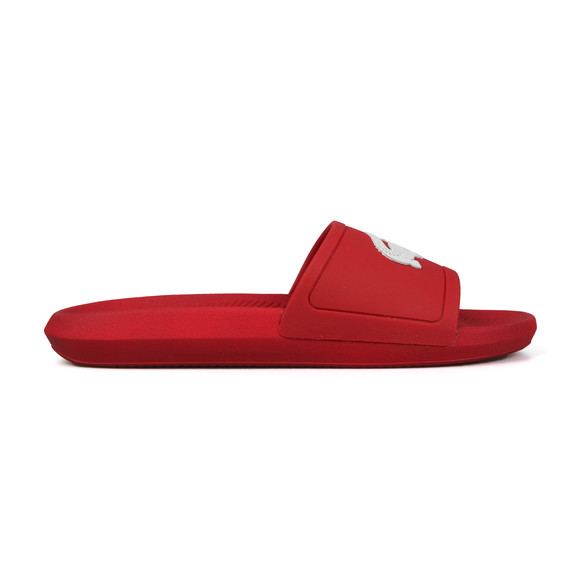 Lacoste Mens Red Croco Slide main image