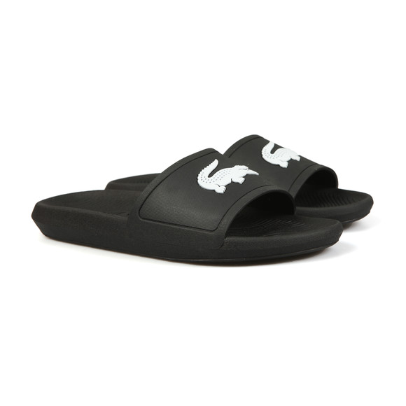 Lacoste Mens Black Croco Slide main image