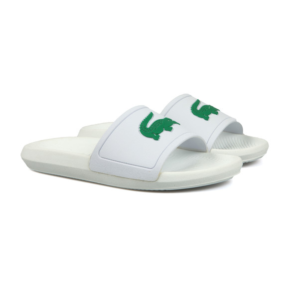 Lacoste Mens White Croco Slide main image