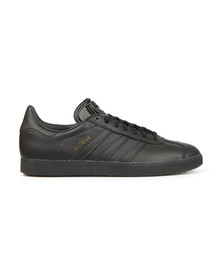 adidas Originals Mens Black Gazelle Leather Trainer
