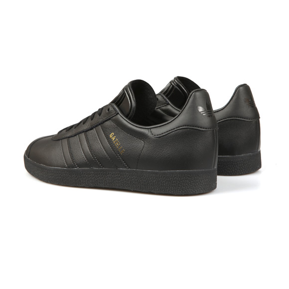 adidas Originals Mens Black Gazelle Leather Trainer main image