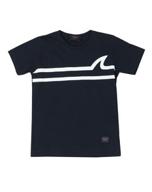 Paul & Shark Cadets Boys Blue Fin Logo T Shirt
