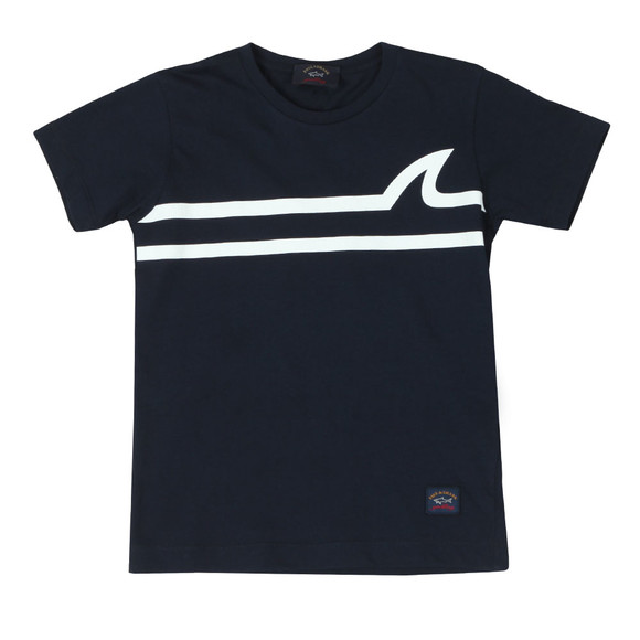 Paul & Shark Cadets Boys Blue Fin Logo T Shirt main image